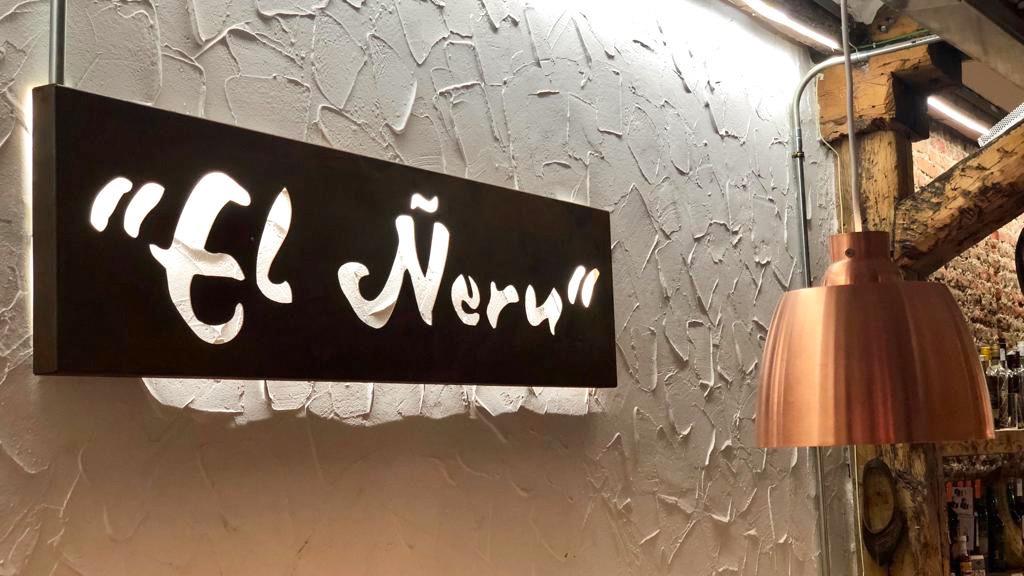 Cartel El Neru - Barra